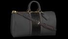custom leather duffle bag